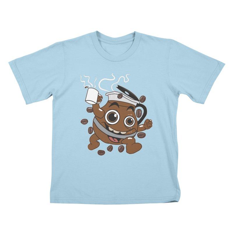 Coffee! Kids T-shirt by dansmash's Artist Shop