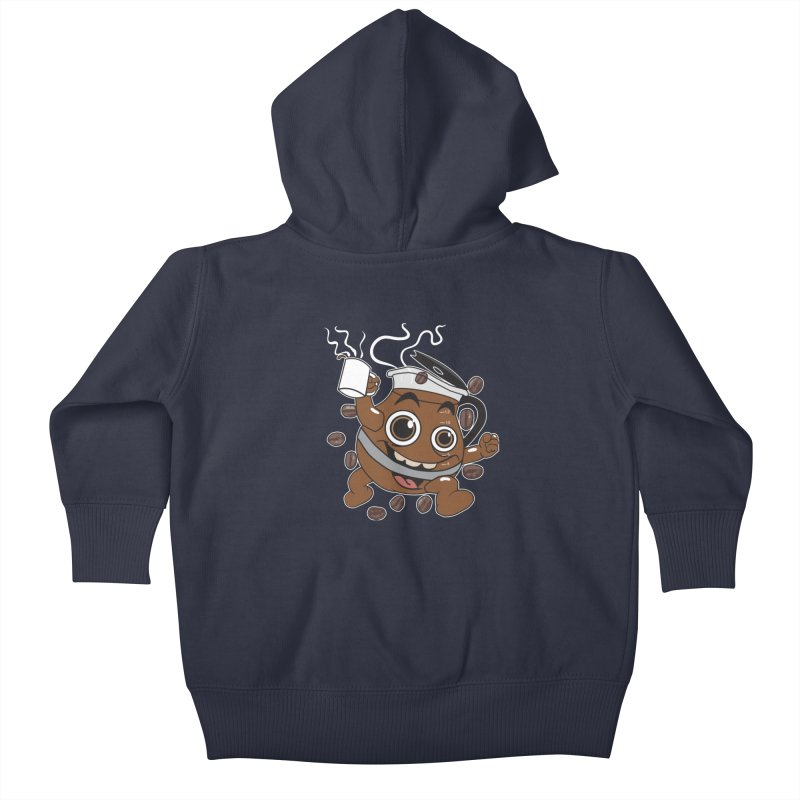 Coffee! Kids Baby Zip-Up Hoody by dansmash's Artist Shop