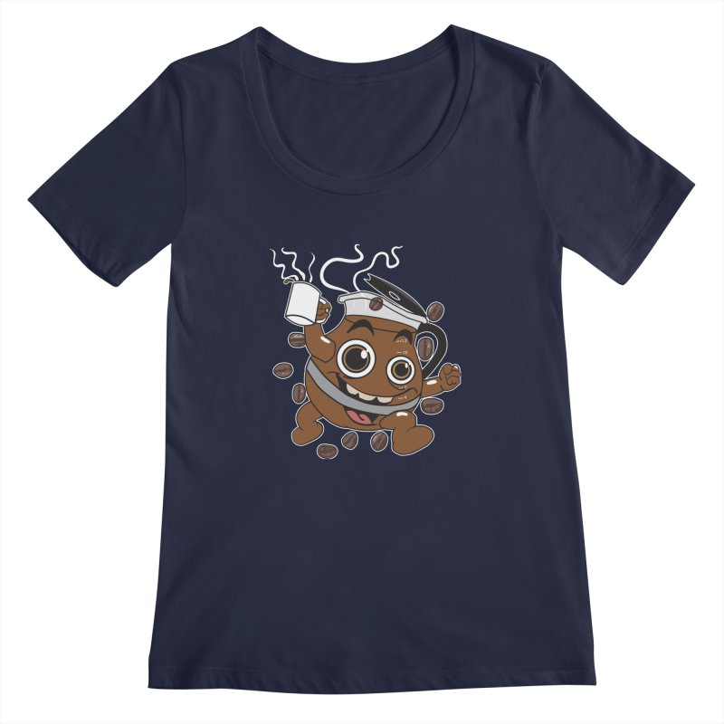 Coffee! Women's Scoopneck by dansmash's Artist Shop