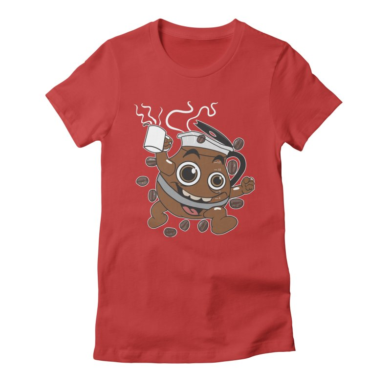 Coffee! Women's Fitted T-Shirt by dansmash's Artist Shop