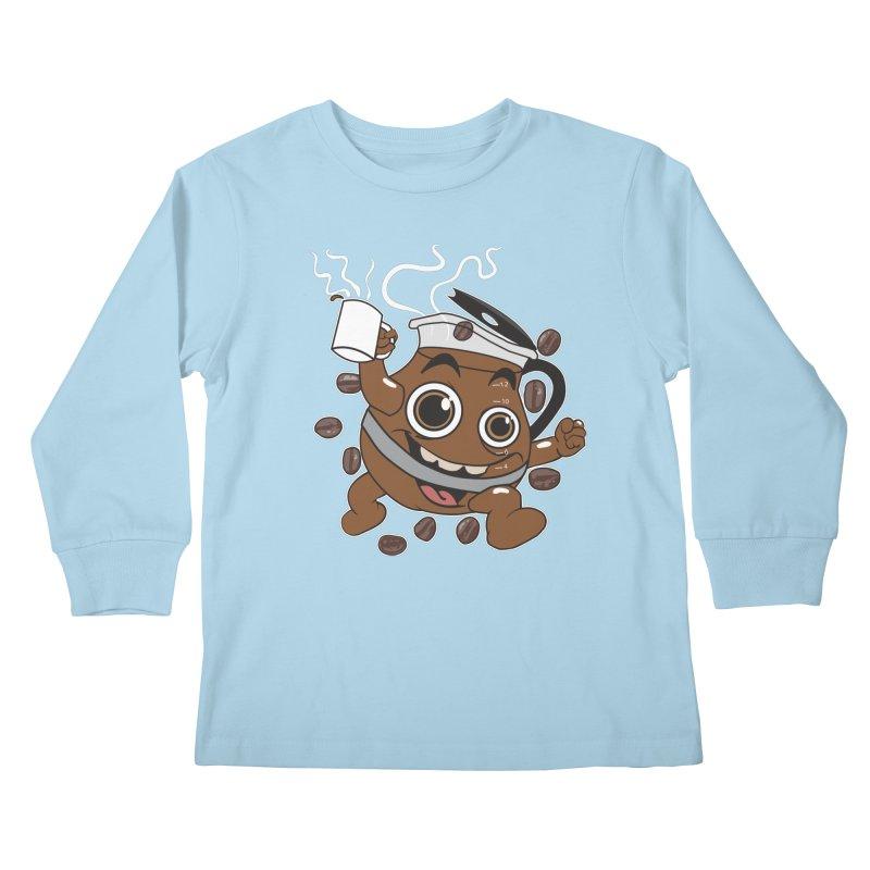 Coffee! Kids Longsleeve T-Shirt by dansmash's Artist Shop