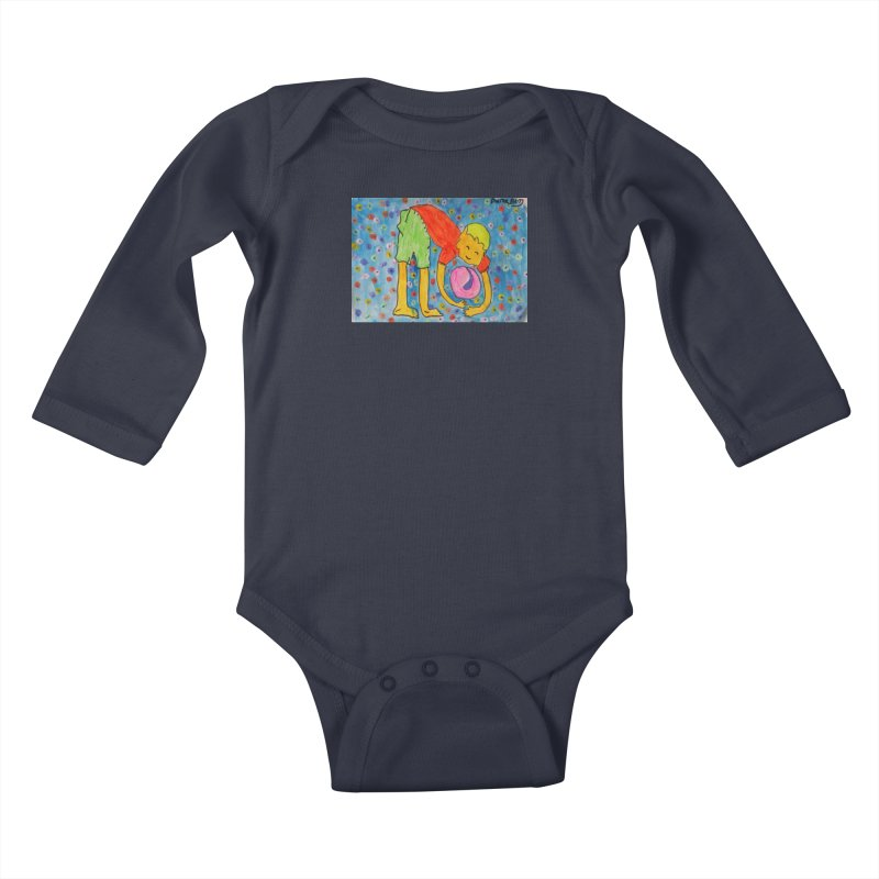 Ball (and) boy II Kids Baby Longsleeve Bodysuit by Darabem's Artist Shop. Darabem Collection