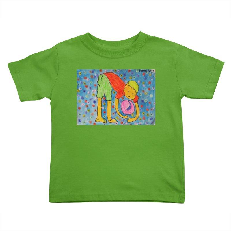Ball (and) boy II Kids Toddler T-Shirt by Darabem's Artist Shop. Darabem Collection