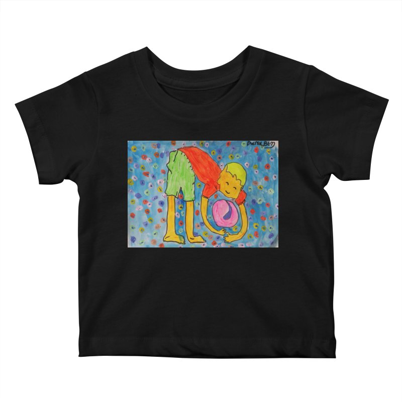 Ball (and) boy II Kids Baby T-Shirt by Darabem's Artist Shop. Darabem Collection