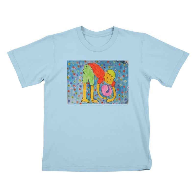 Ball (and) boy II Kids T-Shirt by Darabem's Artist Shop. Darabem Collection