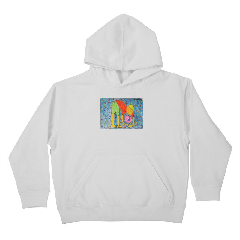 Ball (and) boy II Kids Pullover Hoody by Darabem's Artist Shop. Darabem Collection