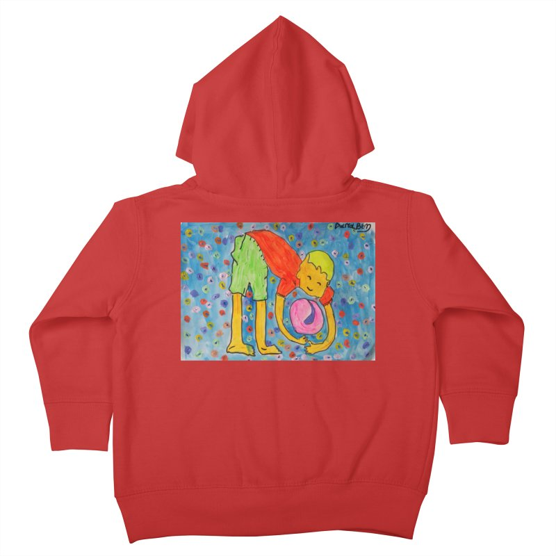 Ball (and) boy II Kids Toddler Zip-Up Hoody by Darabem's Artist Shop. Darabem Collection