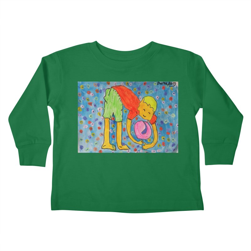 Ball (and) boy II Kids Toddler Longsleeve T-Shirt by Darabem's Artist Shop. Darabem Collection