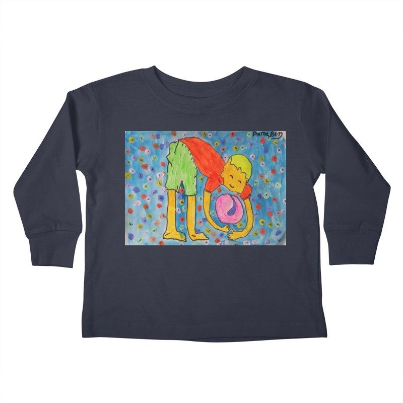 Ball (and) boy II Kids Toddler Longsleeve T-Shirt by Darabem's Artist Shop. Darabem Collection