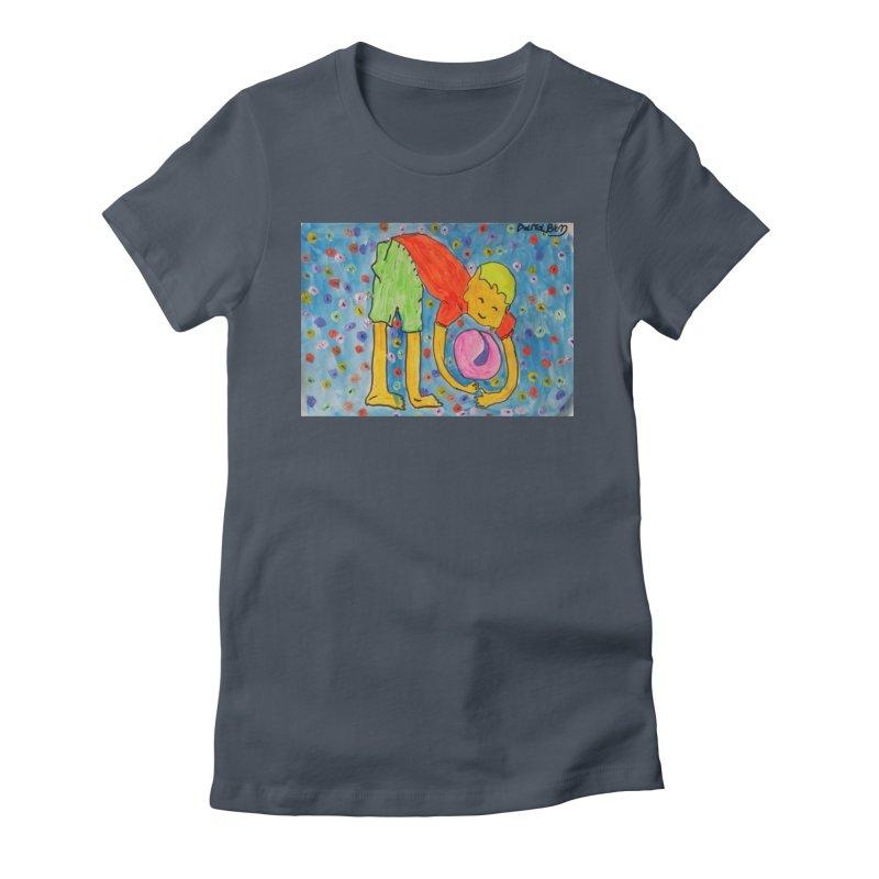 Ball (and) boy II Women's T-Shirt by Darabem's Artist Shop. Darabem Collection