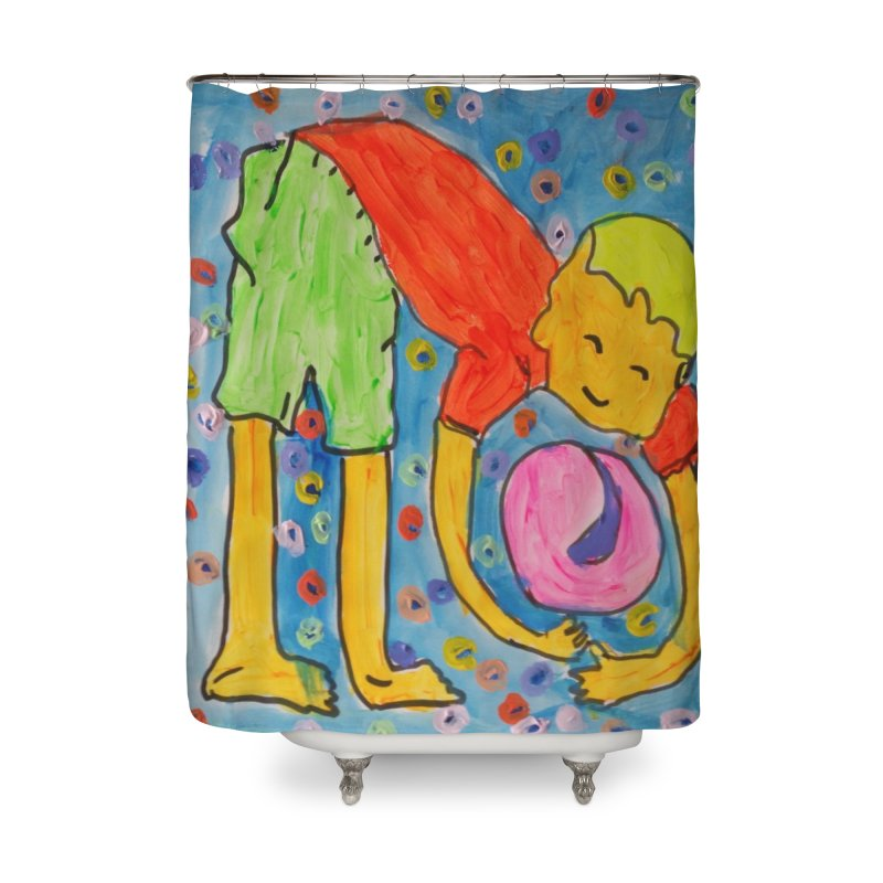 Ball (and) boy II Home Shower Curtain by Darabem's Artist Shop. Darabem Collection