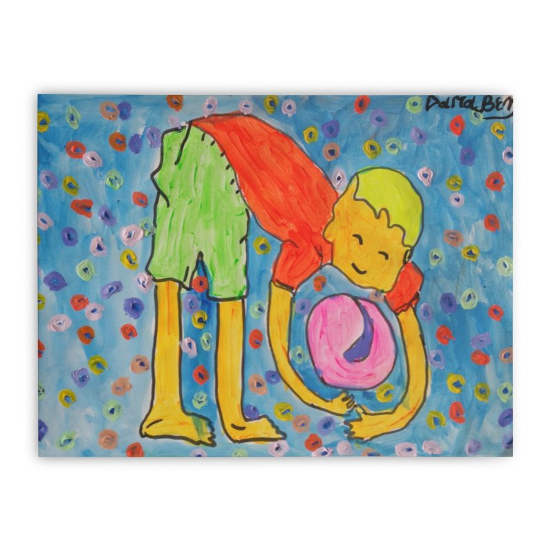 Ball (and) boy II Home Stretched Canvas by Darabem's Artist Shop. Darabem Collection