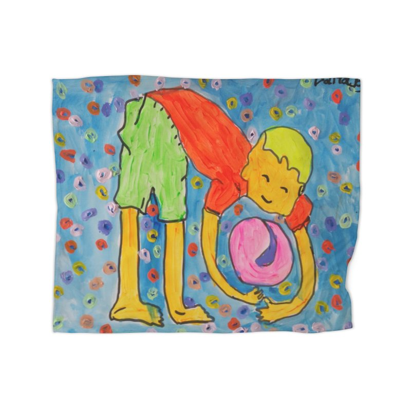 Ball (and) boy II Home Blanket by Darabem's Artist Shop. Darabem Collection