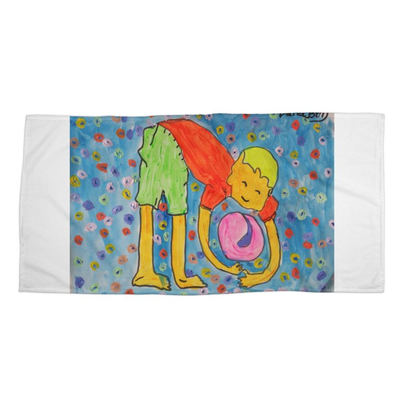 Ball (and) boy II Accessories Beach Towel by Darabem's Artist Shop. Darabem Collection