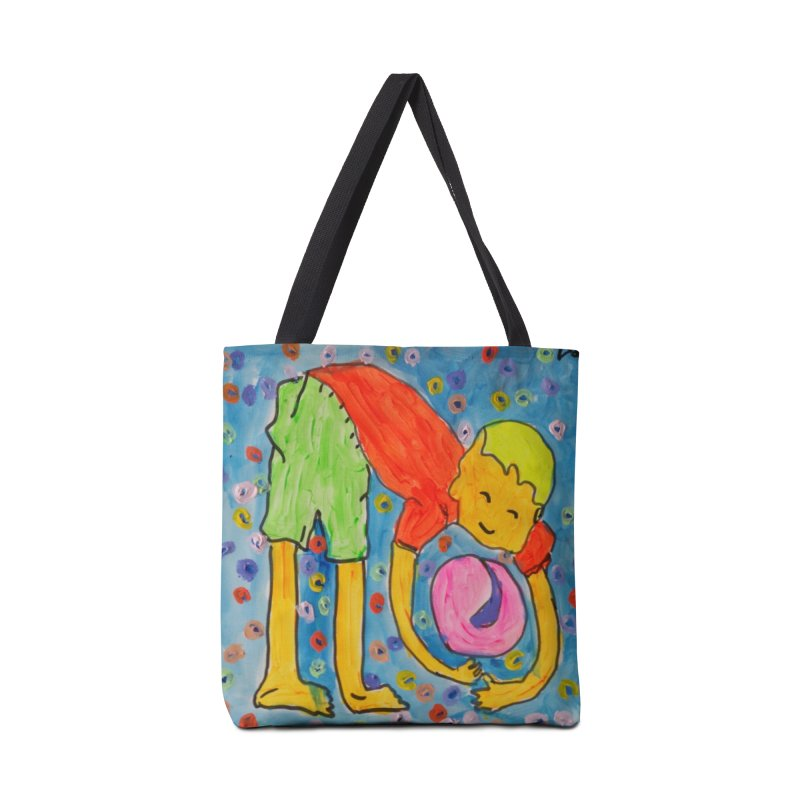 Ball (and) boy II Accessories Bag by Darabem's Artist Shop. Darabem Collection