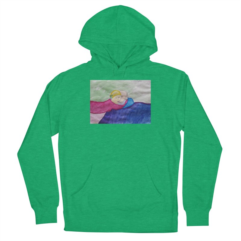 Couple in peaceful place Men's Pullover Hoody by Darabem's Artist Shop. Darabem Collection