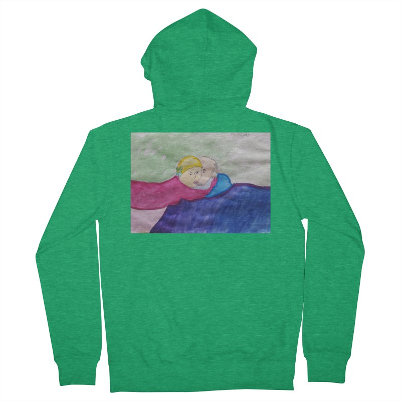 Couple in peaceful place Men's Zip-Up Hoody by Darabem's Artist Shop. Darabem Collection