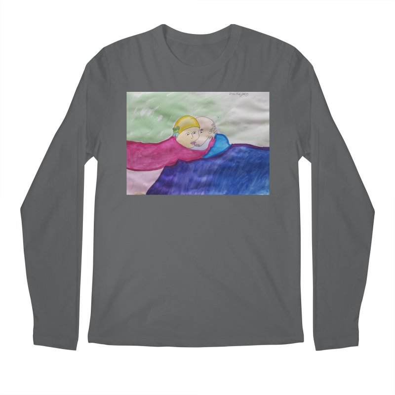 Couple in peaceful place Men's Longsleeve T-Shirt by Darabem's Artist Shop. Darabem Collection