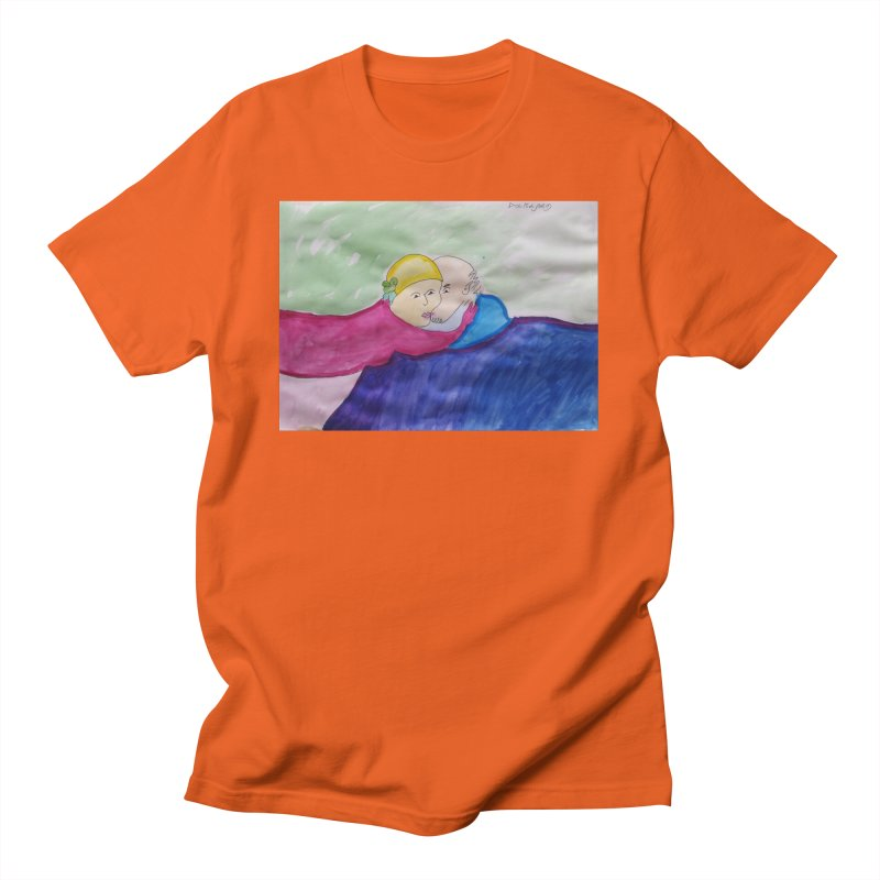 Couple in peaceful place Men's T-Shirt by Darabem's Artist Shop. Darabem Collection