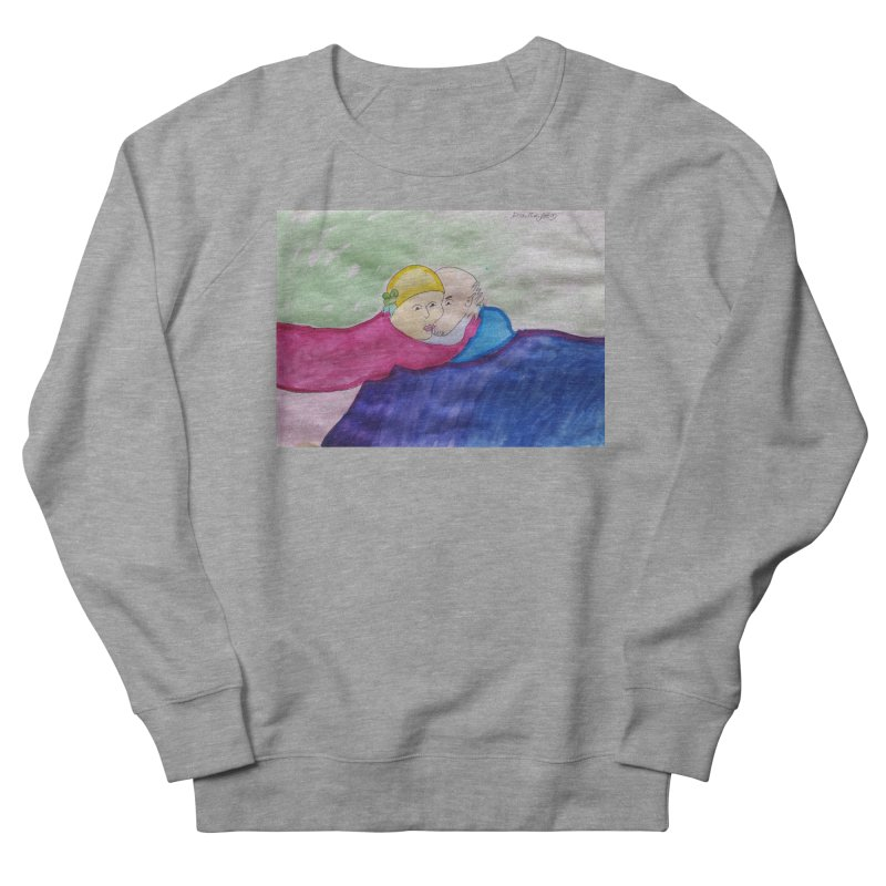 Couple in peaceful place Men's French Terry Sweatshirt by Darabem's Artist Shop. Darabem Collection