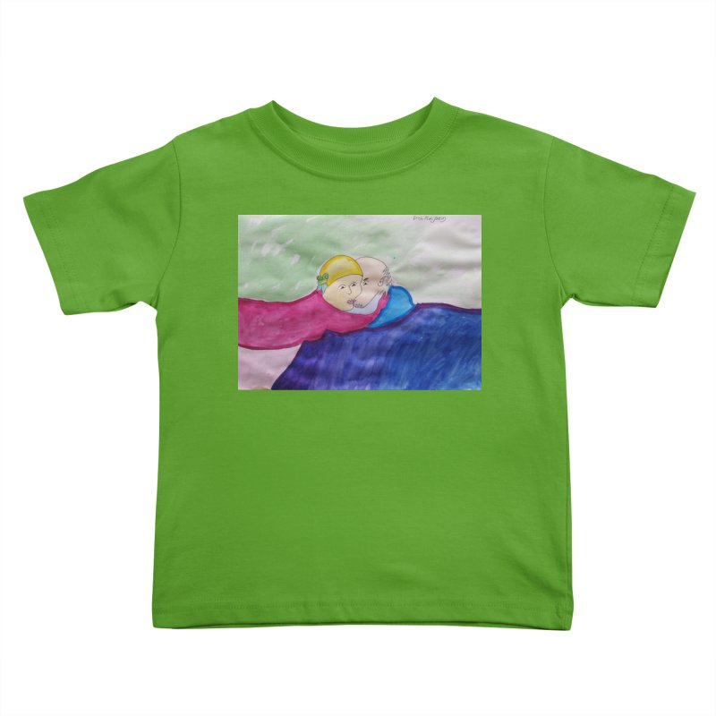 Couple in peaceful place Kids Toddler T-Shirt by Darabem's Artist Shop. Darabem Collection