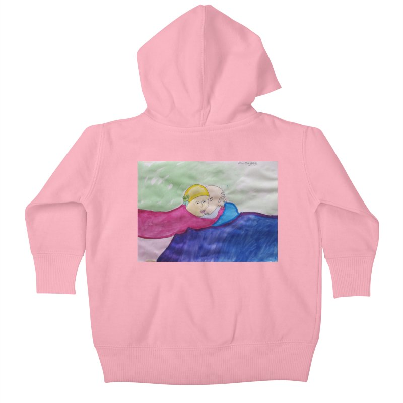 Couple in peaceful place Kids Baby Zip-Up Hoody by Darabem's Artist Shop. Darabem Collection