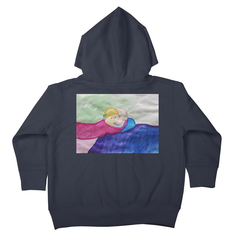 Couple in peaceful place Kids Toddler Zip-Up Hoody by Darabem's Artist Shop. Darabem Collection