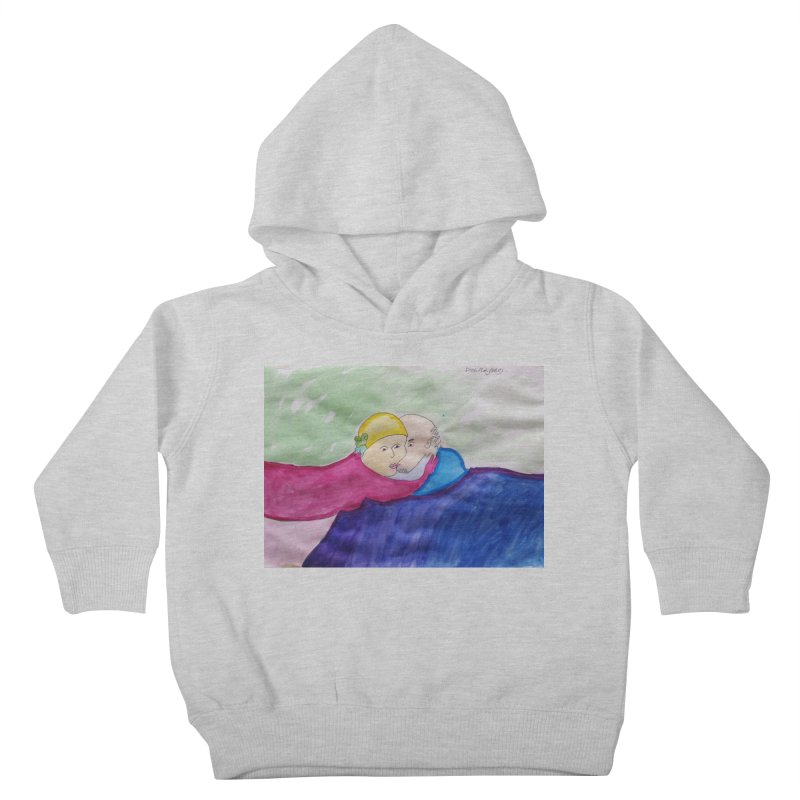 Couple in peaceful place Kids Toddler Pullover Hoody by Darabem's Artist Shop. Darabem Collection