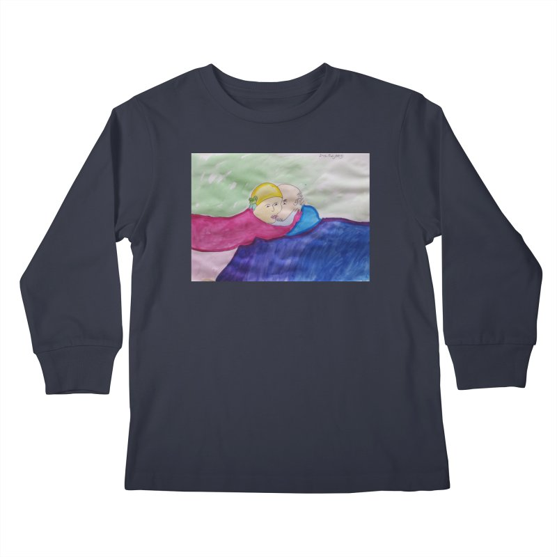 Couple in peaceful place Kids Longsleeve T-Shirt by Darabem's Artist Shop. Darabem Collection