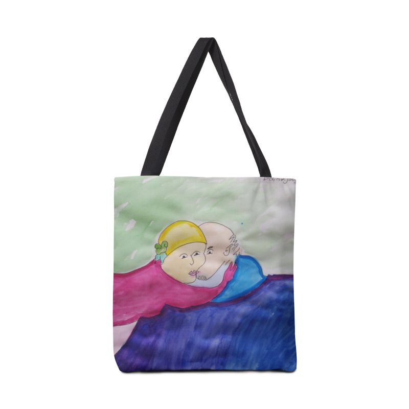 Couple in peaceful place Accessories Bag by Darabem's Artist Shop. Darabem Collection