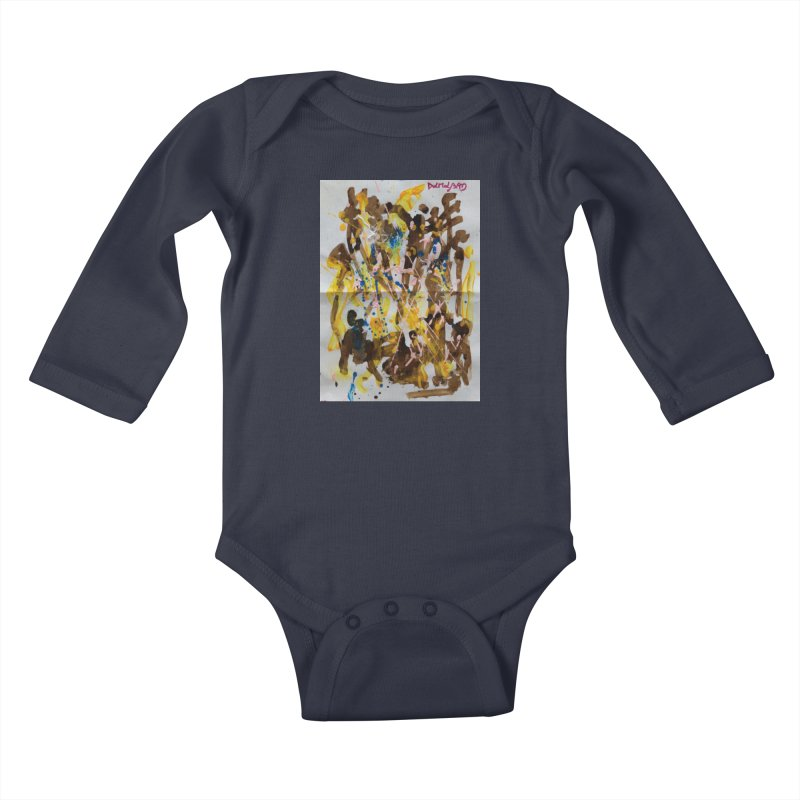 Abstract casting motive I Kids Baby Longsleeve Bodysuit by Darabem's Artist Shop. Darabem Collection
