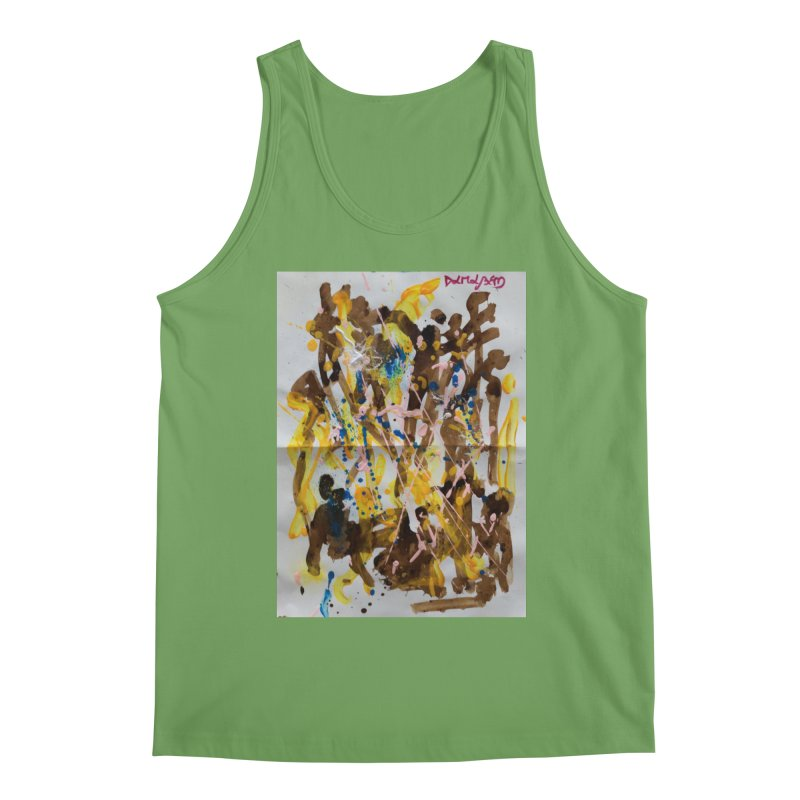 Abstract casting motive I Men's Tank by Darabem's Artist Shop. Darabem Collection