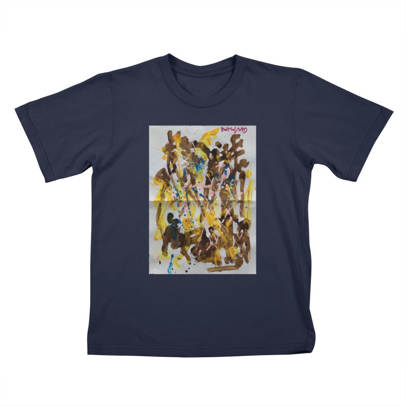 Abstract casting motive I Kids T-Shirt by Darabem's Artist Shop. Darabem Collection