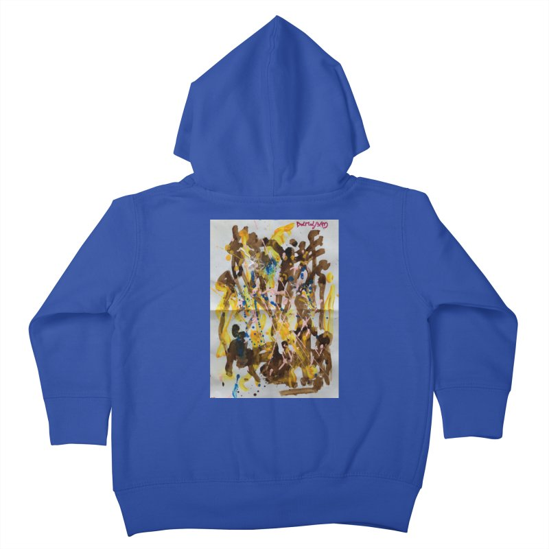 Abstract casting motive I Kids Toddler Zip-Up Hoody by Darabem's Artist Shop. Darabem Collection