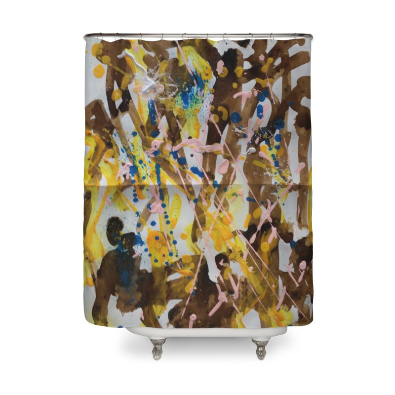 Abstract casting motive I Home Shower Curtain by Darabem's Artist Shop. Darabem Collection