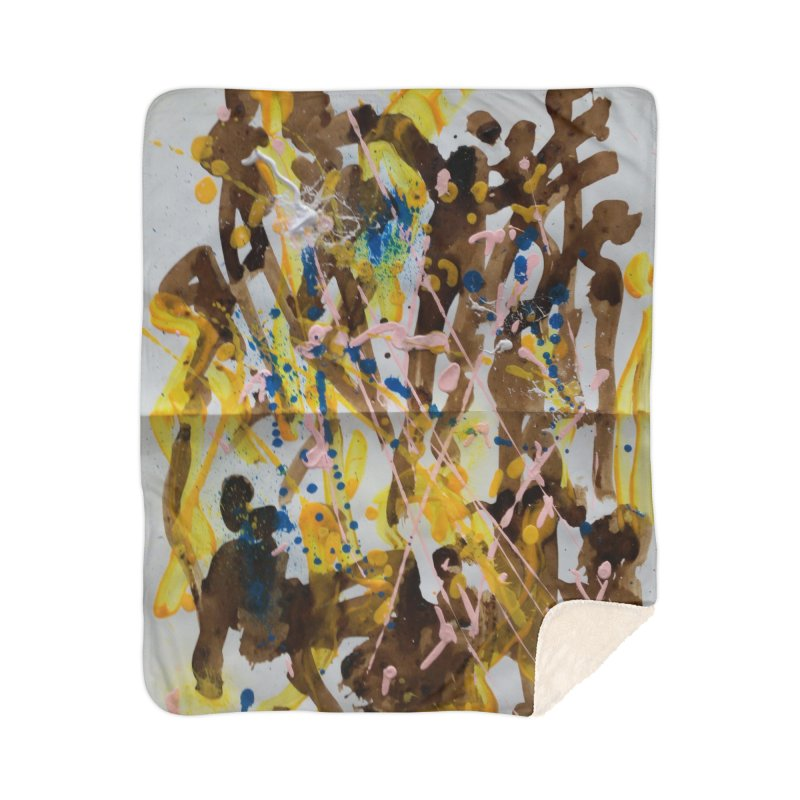 Abstract casting motive I Home Blanket by Darabem's Artist Shop. Darabem Collection