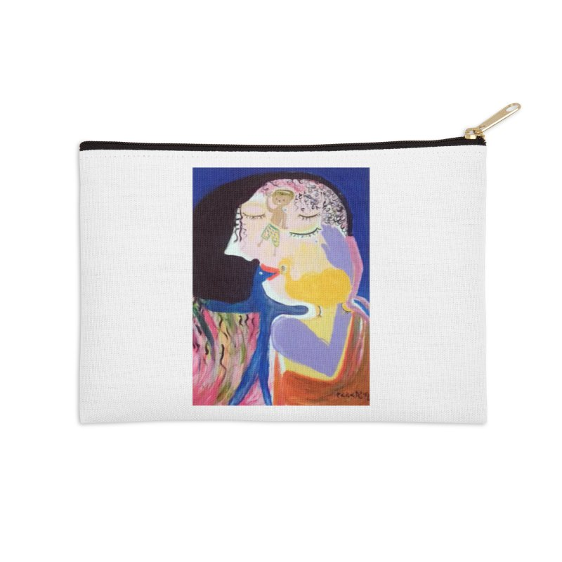 To be wait Accessories Zip Pouch by Darabem's Artist Shop. Darabem Collection