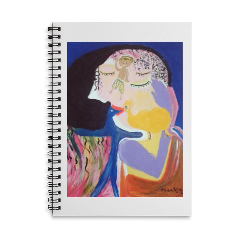 To be wait Accessories Lined Spiral Notebook by Darabem's Artist Shop. Darabem Collection