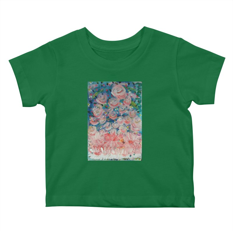 First Flowers Kids Baby T-Shirt by Darabem's Artist Shop. Darabem Collection