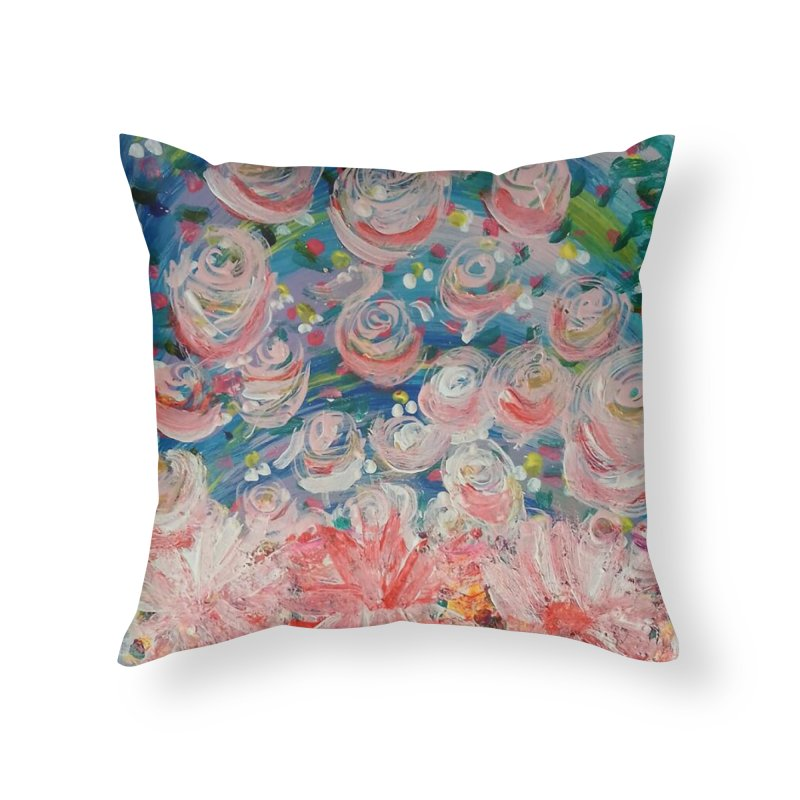 First Flowers Home Throw Pillow by Darabem's Artist Shop. Darabem Collection