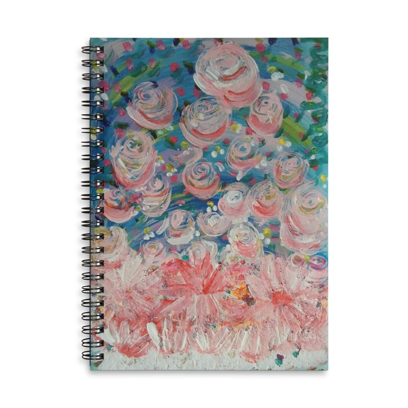 First Flowers Accessories Lined Spiral Notebook by Darabem's Artist Shop. Darabem Collection