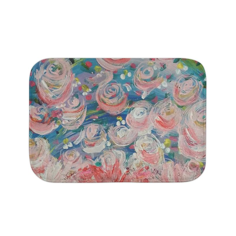 First Flowers Home Bath Mat by Darabem's Artist Shop. Darabem Collection