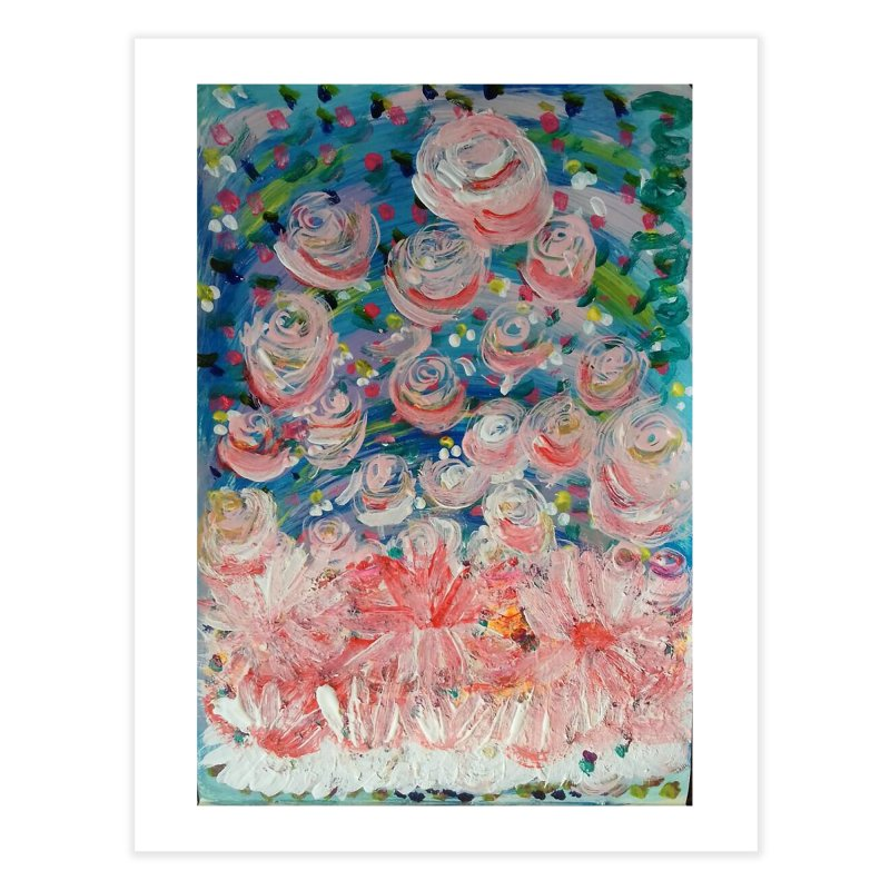 First Flowers Home Fine Art Print by Darabem's Artist Shop. Darabem Collection