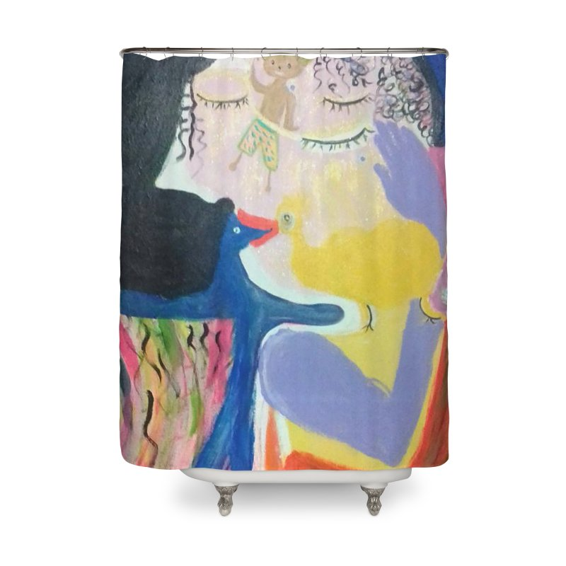 To be wait Home Shower Curtain by Darabem's Artist Shop. Darabem Collection