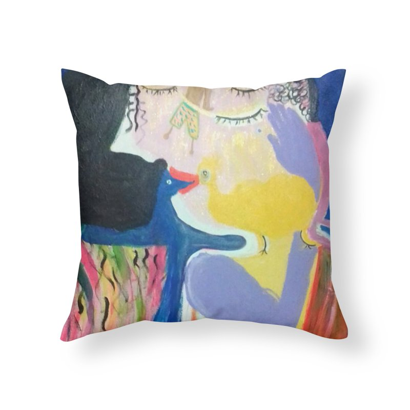 To be wait Home Throw Pillow by Darabem's Artist Shop. Darabem Collection