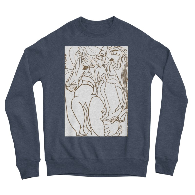 Horse in the casting Women's Sponge Fleece Sweatshirt by Darabem's Artist Shop. Darabem Collection