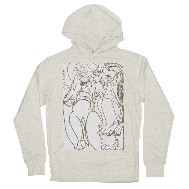 Horse in the casting Women's French Terry Pullover Hoody by Darabem's Artist Shop. Darabem Collection