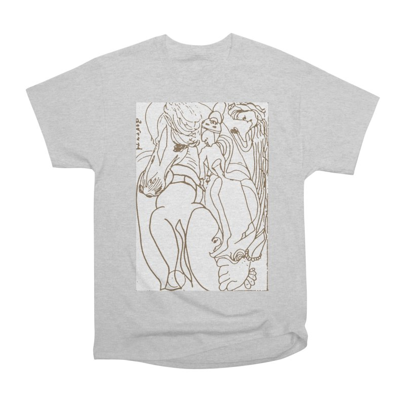 Horse in the casting Men's T-Shirt by Darabem's Artist Shop. Darabem Collection