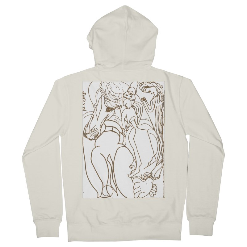 Horse in the casting Women's French Terry Zip-Up Hoody by Darabem's Artist Shop. Darabem Collection