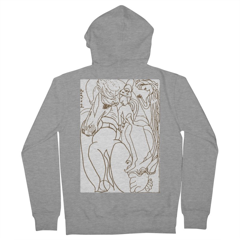 Horse in the casting Men's French Terry Zip-Up Hoody by Darabem's Artist Shop. Darabem Collection